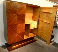 Art Deco Bedroom Furniture by Classy Carpenter Made Custom Bar Cabinets And Armoire Added Cube