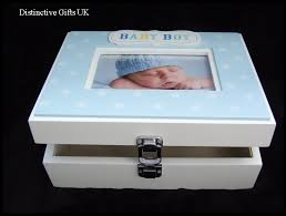 wooden baby keepsake box boy wooden keepsake memory box