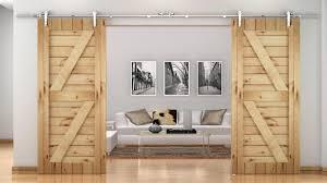 Closet Doors Barn Style 12ft Stainless Steel European Style Barn Wood Door Closet