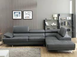 canapé grand angle canape cuir gris clair canapac grand angle en cuir avec tatiares