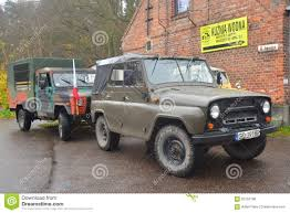uaz jeep old soviet army vehicle uaz 469 cars on a parade editorial stock