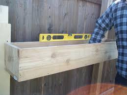 Garden Boxes Ideas Diy Cedar Planter Boxes For Fence In The Backyard House Design