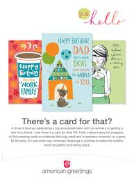 news american greetings brand new p s hello line of cards from
