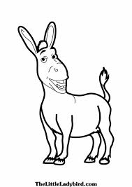 free donkey shrek coloring pages for kids coloring pages smiling
