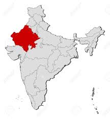 Maps Of India by Political Map Of India With The Several States Where Rajasthan