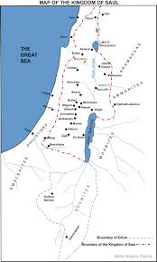 A New Map Of Jewish by Map Of The Kingdom Of Saul Bible History Online
