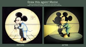 Mickey Mouse Meme - draw this again mickey mouse by eumenidi on deviantart