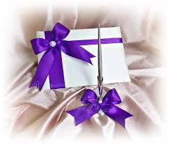 purple wedding guest book artfire markets