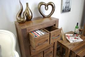 dvd cd storage chest in walnut