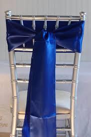 royal blue satin chair sashes 6x106