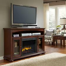 Pleasant Hearth Fire Pit - weatherford convertible rustic electric fireplace fire pit with tv