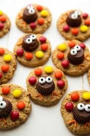 peanut butter cup turkey cookies peanut butter cookies