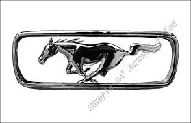 mustang grill emblems ford mustang pony grill emblem picture