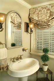 bathroom window treatment ideas in elegant bathroom window