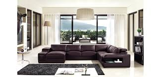 Large Sectional Sofa by Divani Casa T132 Large Sectional Sofa In Brown Leather