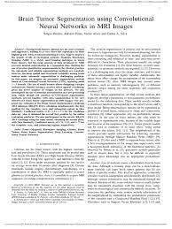 brain tumor segmentation using convolutional image segmentation