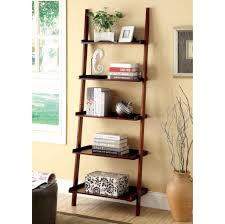 Leaning Ladder Bookshelves by Furniture Black Steel Leaning Ladder Bookcase By Ameriwood Nice