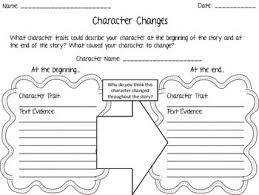 character changes graphic organizer by the b in room 3 tpt