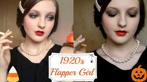 1920s flapper inspired halloween makeup tutorial youtube
