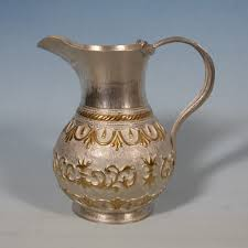silver and gilt jug with ornaments 2 handmade products
