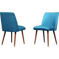 chaise allemande chaise allemande bleue turquoise en tissu et bois 1960 design market