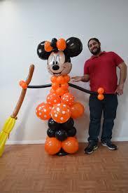 halloween minnie mouse balloon column tutorial diy minnie balloon
