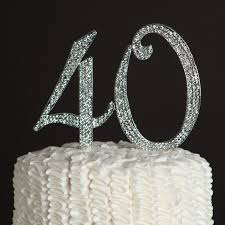 40 cake topper 40 cake topper for 40th birthday or anniversary party supplies