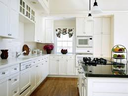 Black Knobs For Kitchen Cabinets White Cabinet With Black Hardware White Kitchen Decoration Using
