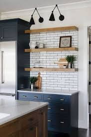 what color floor with blue cabinets 75 beautiful wood floor kitchen with blue cabinets
