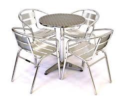 Garden Bistro Chairs with Aluminium Bistro Set Garden Set 4 X Aluminium Chairs 1 Rattan