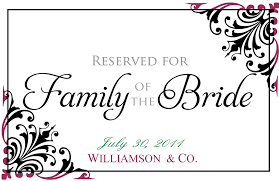 printable reserved table signs attractive wedding reserved signs template crest resume ideas