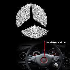 mercedes car emblem aliexpress com buy car steering wheel emblem 3d sticker for