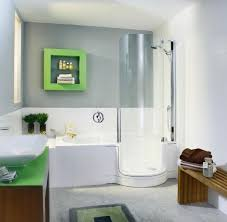 curved glass shower door aesthetic ideas for small bathroom design with undermount bathtub