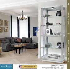 680576 howard miller modern silver curio cabinet jayden