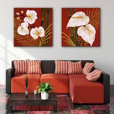 Home Decor Paintings by Online Get Cheap Hand Painted Canvas Oil Paintings Bamboo