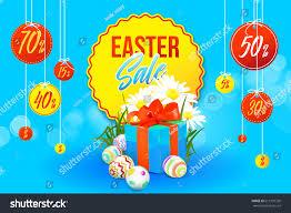 easter eggs sale easter sale banner flowers gift stock vector 615197339