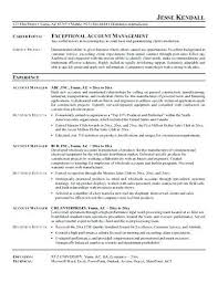 sales account manager resume sample sales account manager resume