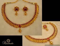 buy temple jewellery necklace set 6