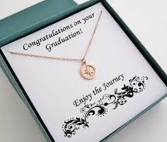 graduation gift gold compass necklace graduation gift marciahdesigns