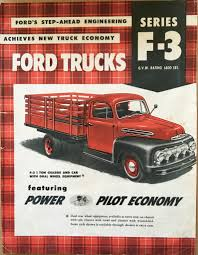 Old Ford Truck Brochures - canadian 1951 f 3 factory dual rear wheel brochure ford truck