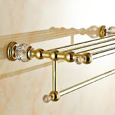 Bathroom Accessories Towel Racks by Gold Towel Bar Towel Holder Bathroom Accessories 4574 Gold Finish