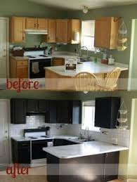 kitchen before and after kitchens black appliances and grey
