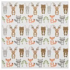 woodland animals fabric zazzle