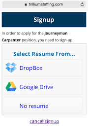 Apply Resume Online by How To Apply Online From A Mobile Device Trillium Staffing
