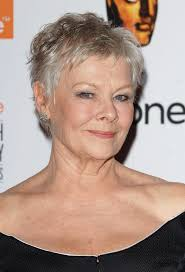 20 short haircuts for women over 50 judi dench bond series and