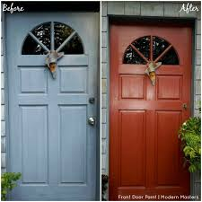 How To Paint Exterior Door Front Door Paint Transformations With Modern Masters Modern