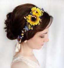 sunflower headband sunflower crown sunflower wedding sunflower headband yellow