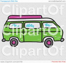 volkswagen bus clipart royalty free rf clipart illustration of a green camper van by