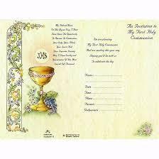 communion invitation generic communion invitation immaculate center
