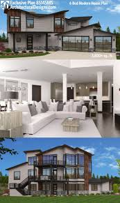 House Plans For Sloping Lots 330 Best Floor Plans Images On Pinterest Modern House Plans